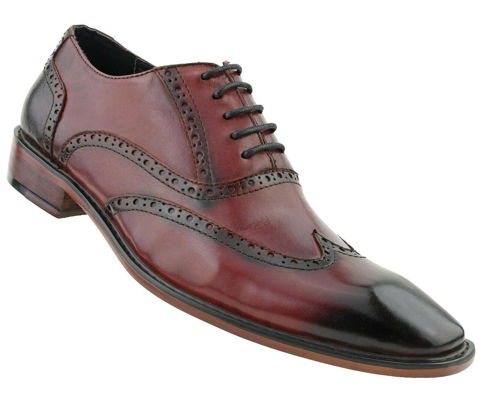 Mens Dress Shoes, Wingtip for Men Oxfords