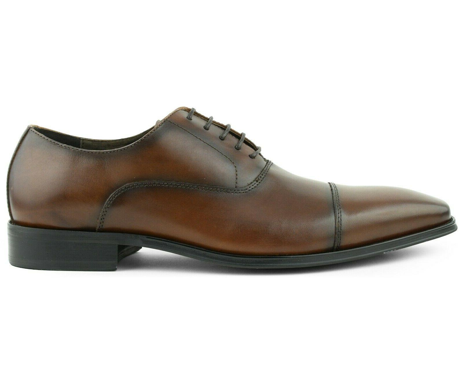 Asher Leather Smooth Cap Lace Up Style