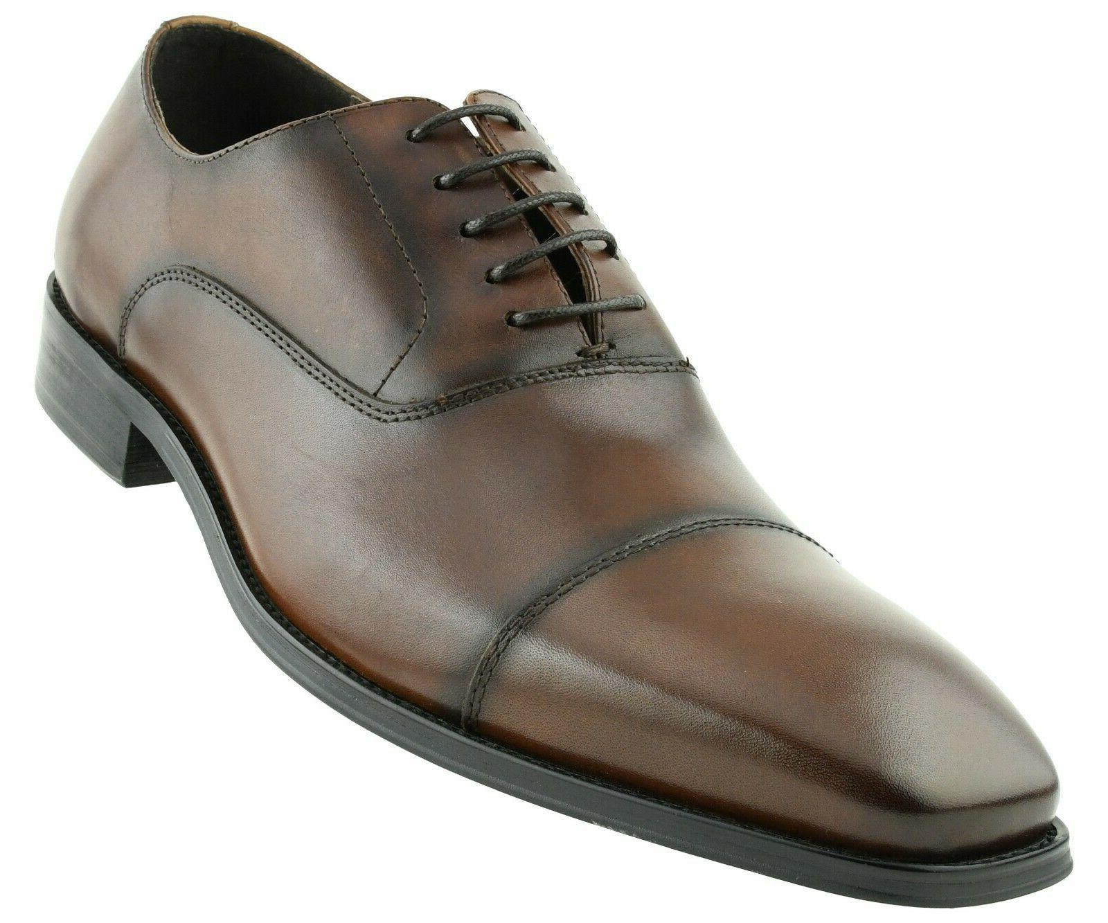 Asher Genuine Leather Smooth Cap Lace AG563