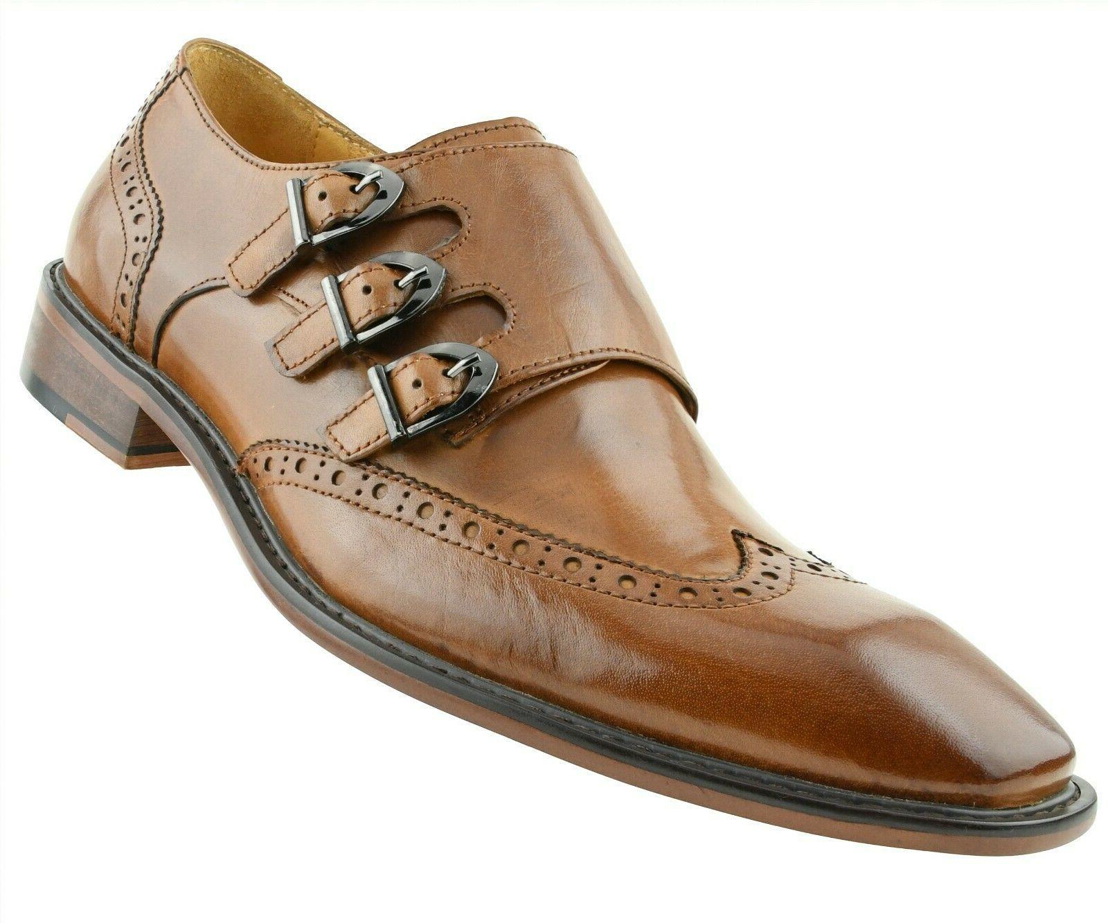 Men's Genuine Shoes, Formal Mens Monk Shoes