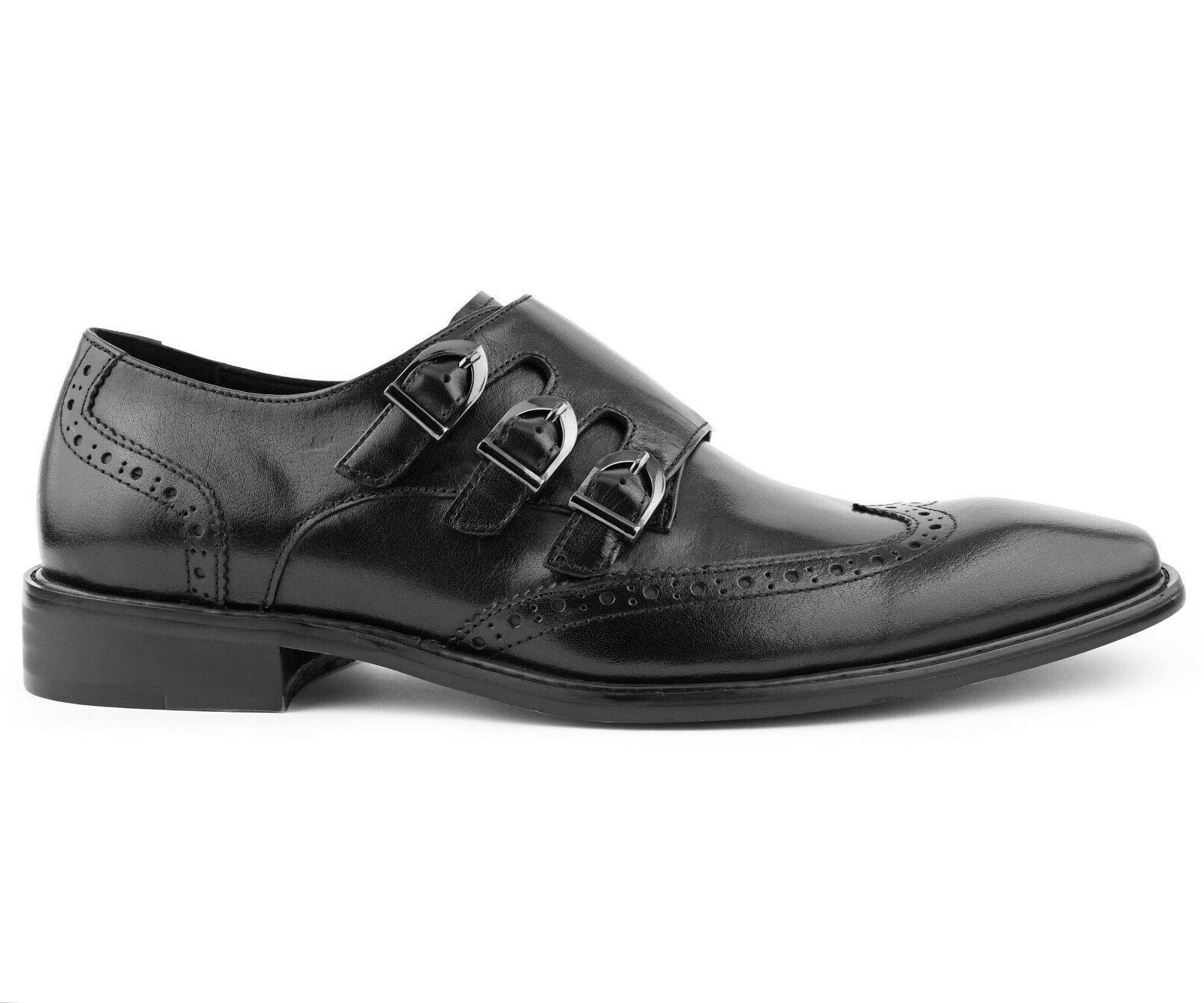 Men's Dress Shoes, Formal Monk Strap Shoes