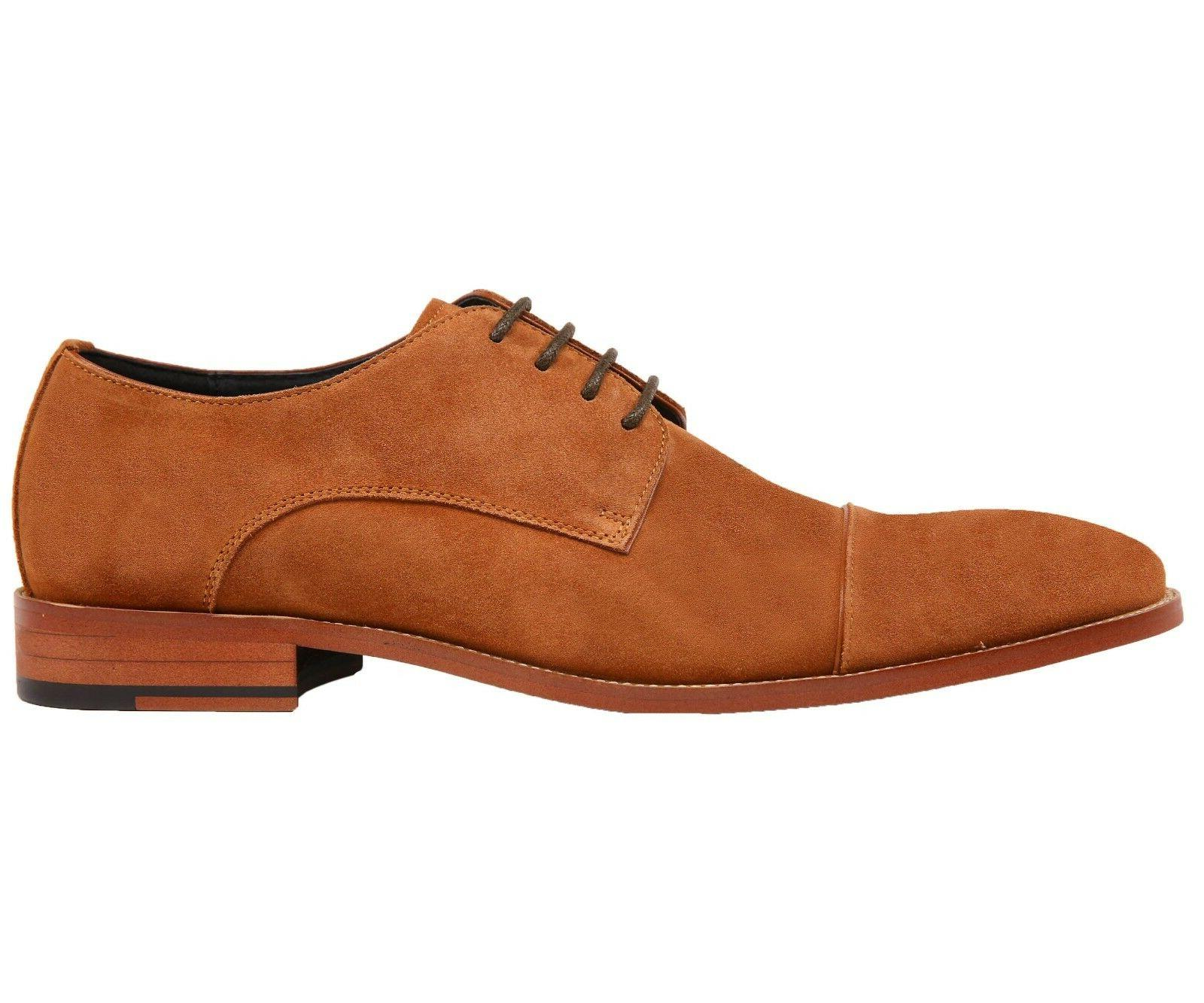 Asher Genuine Suede Cap Up Oxford Dress Shoe :