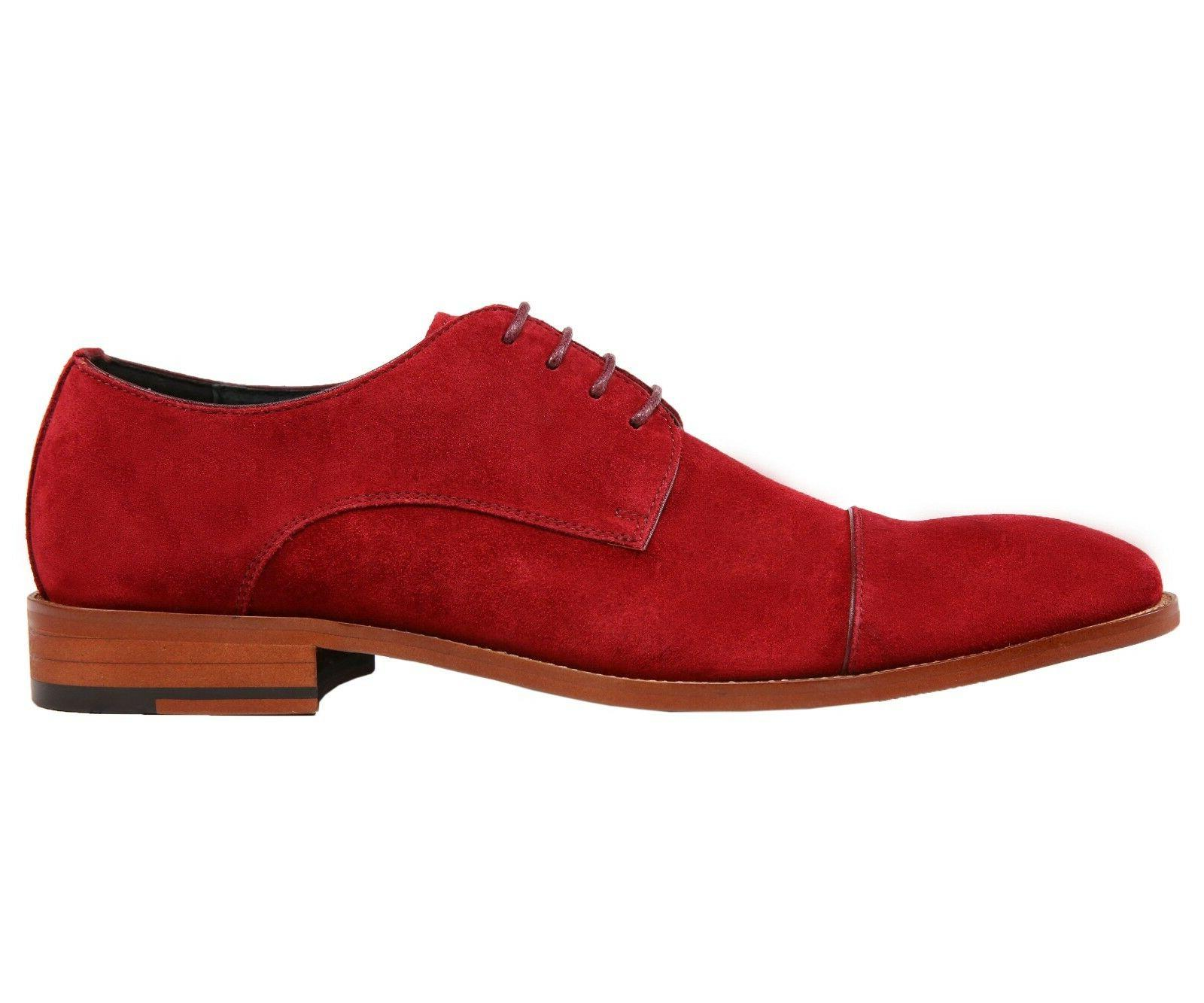 Asher Genuine Suede Cap Toe Lace Up Oxford Dress Shoe : AG3889