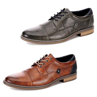 mens justin lace up cap toe oxford