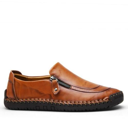 Mens Zipper Breathable Loafers Moccasins Casual K