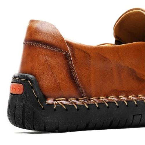 Mens Leather Zipper Breathable Moccasins Casual K