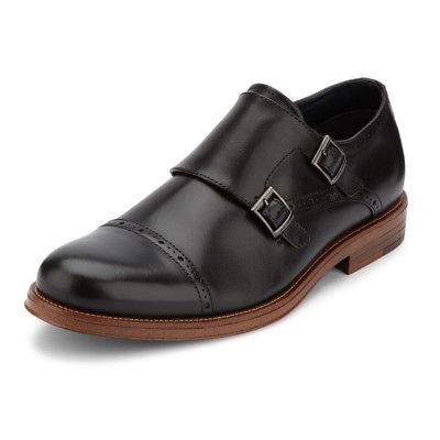 mens maycrest genuine leather dress monk strap