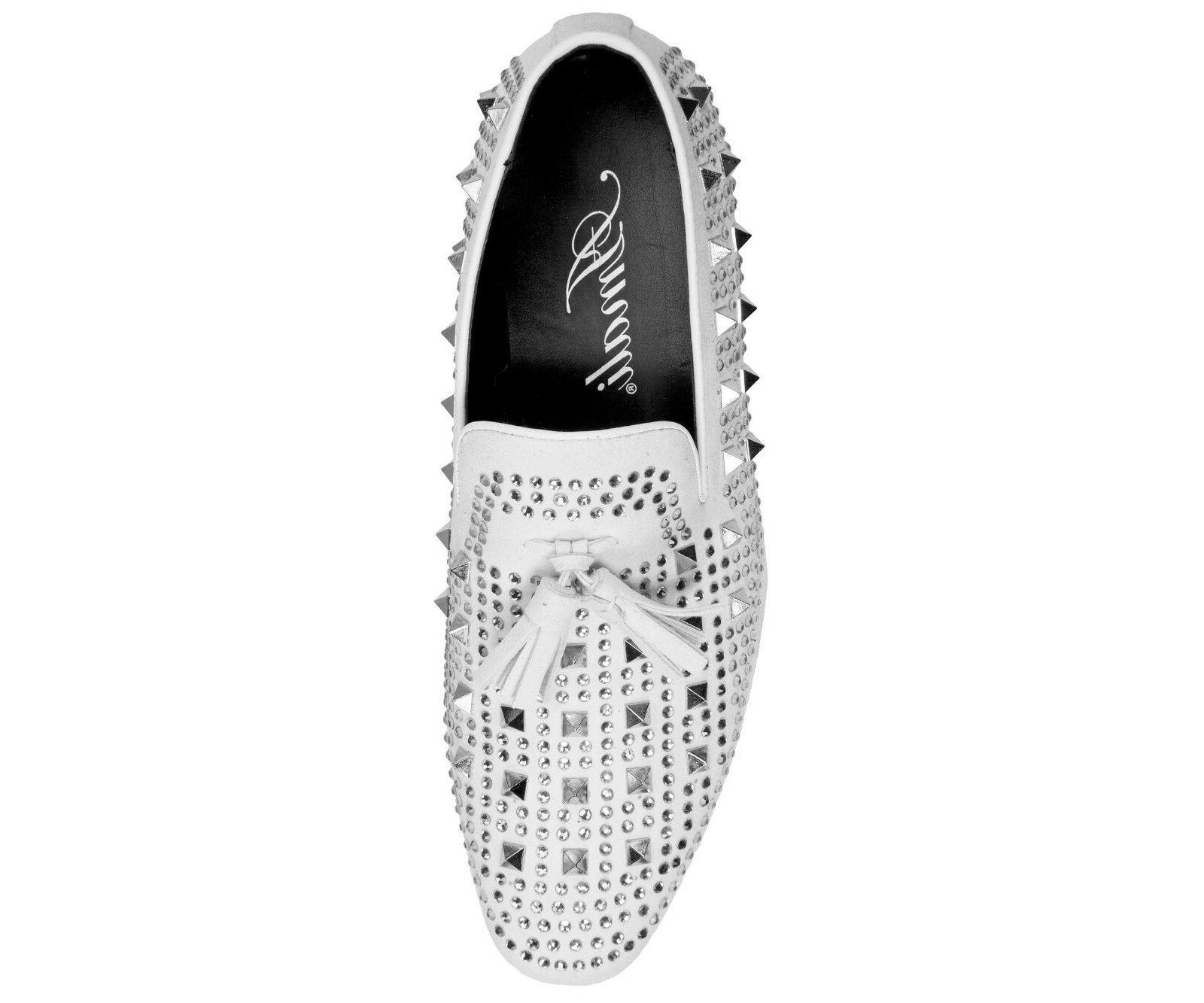 Amali Mens Metallic Studded Smoking Slipper Dress Shoes : Tate