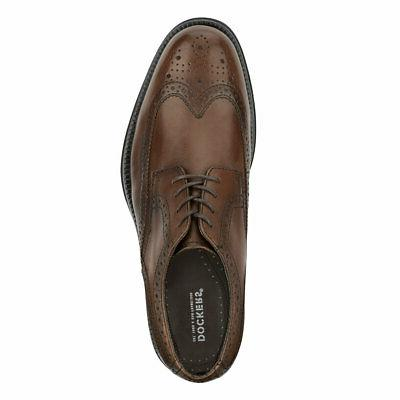 Dockers Genuine Leather Wingtip Lace-up
