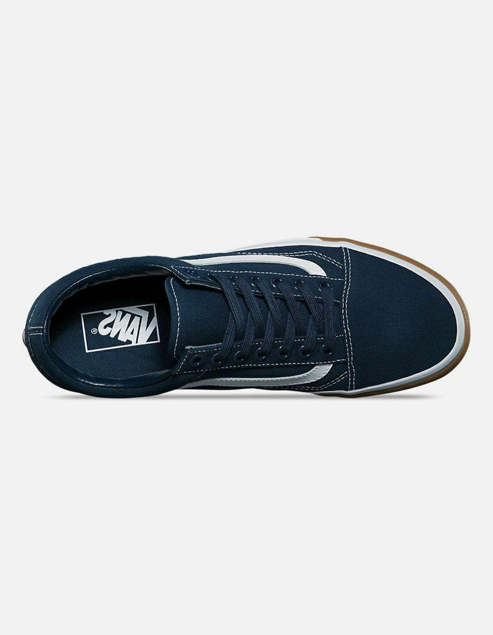 Mens Skool Skate Shoes Sneakers Gum Bumper Blues White
