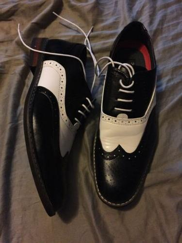 Enzo Romeo Oxfords Size 11 M Brogue Two Tone Wooden 08
