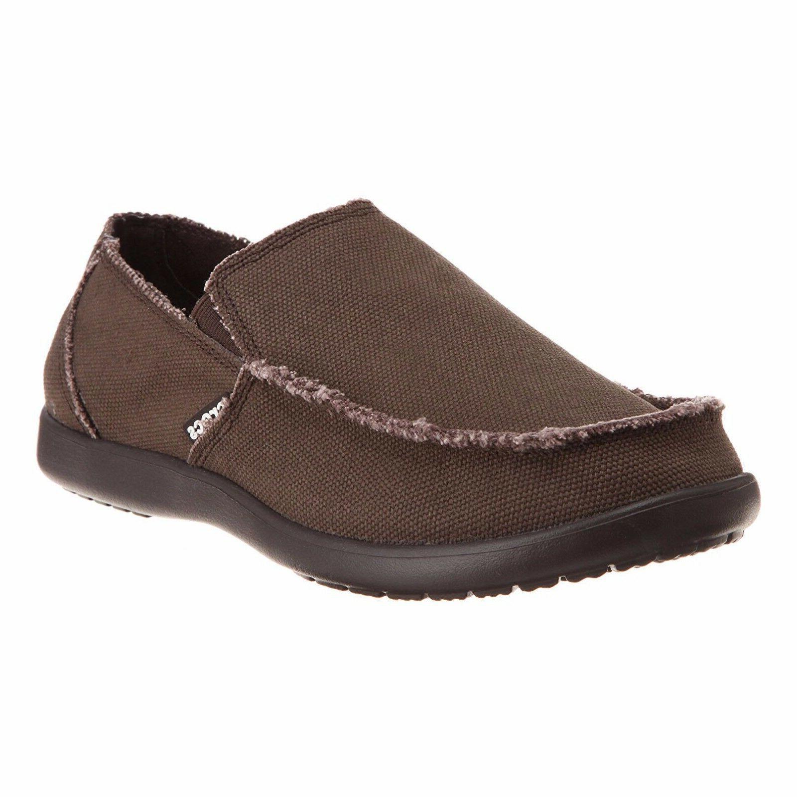 Mens Crocs Santa Cruz Fashion Loafer Khaki Espresso Casual B
