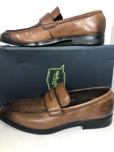 ECCO Men's EU Brown Slip-on Penny Loafer Dress Shoes TC-187