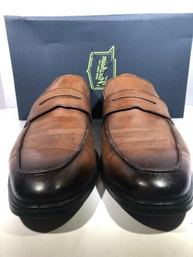 ECCO EU Brown Leather Slip-on Dress Shoes TC-187