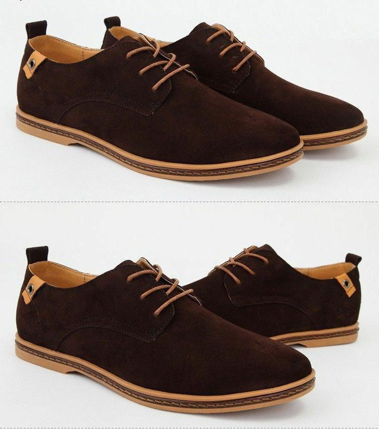 Mens Suede Size Lace Loafers