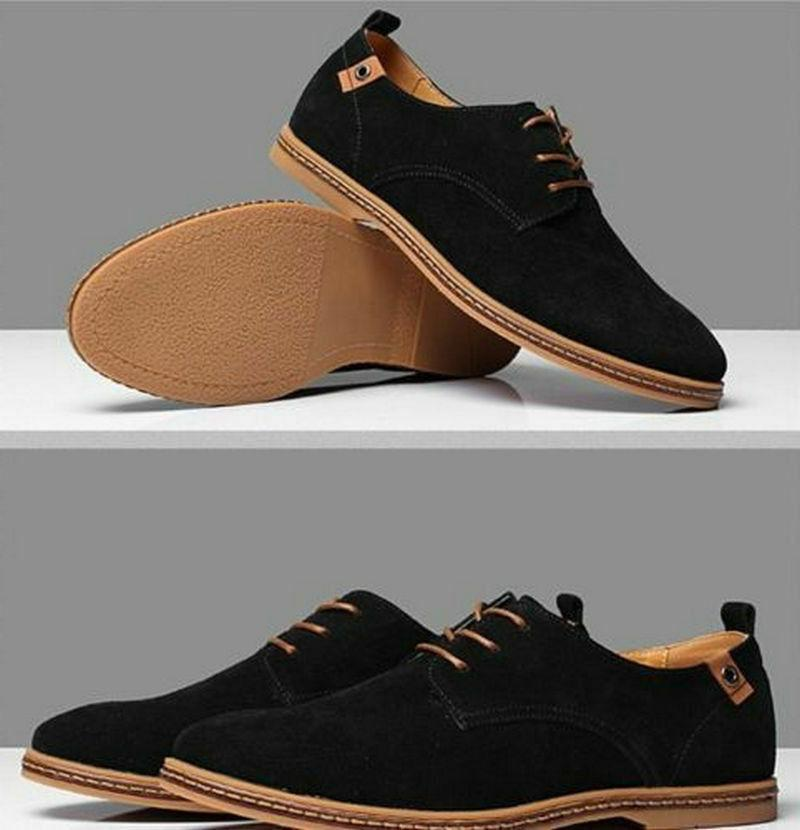 Mens Shoes Size Formal Oxfords Lace Up Casual Flats Loafers
