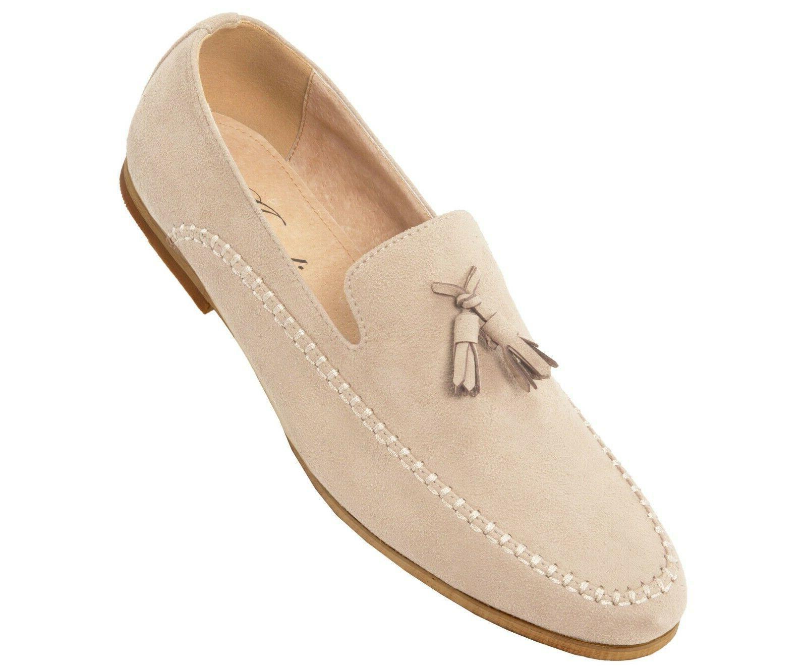 Amali Microfiber Faux Suede Men's Slip on Dress Shoe with Ta