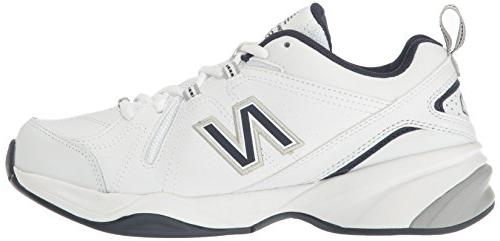 New Training Shoe, White/Navy, 4E US