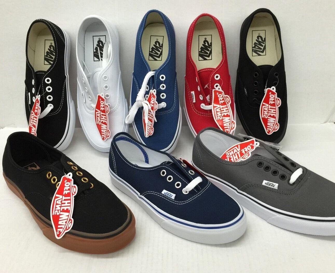 Vans Authentic Classic Sneakers Unisex Canvas Shoes NWT.