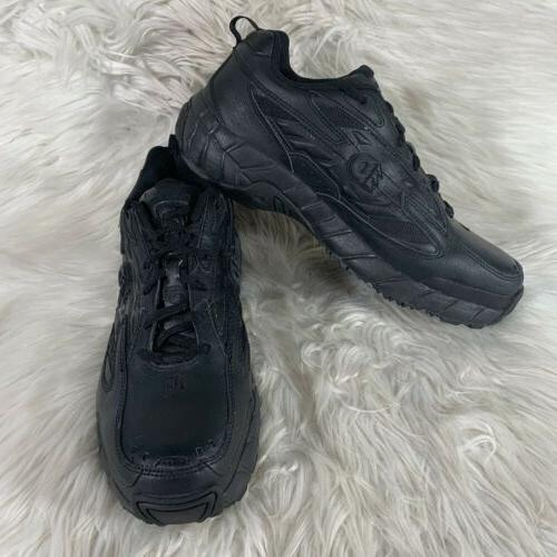 new balance black leather work comfort shoes