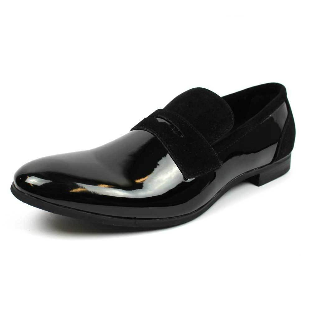 New Men Black Shoes On Patent/Suede Leather Shoes Bradley AZAR