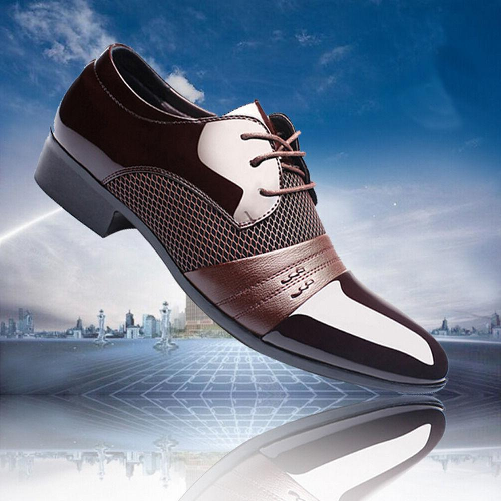 New Men Leather Oxford Dress Fashion Business Shoes
