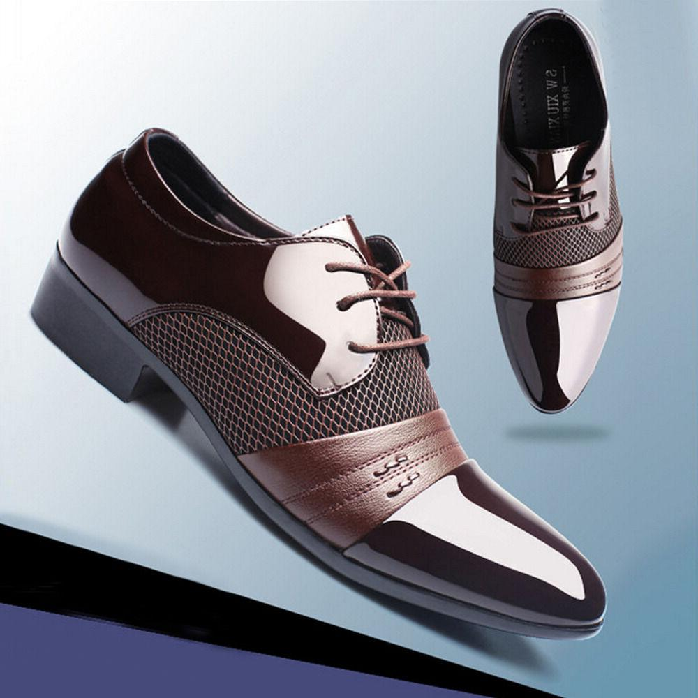 Formal Shoes Men Leather New Dress Oxfords Business Dress Fa