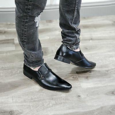 New Slip On Toe Belted Loafers Shoes
