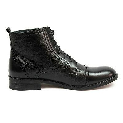 New Brown Ferro High Boots Cap Toe Leather
