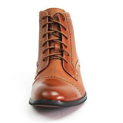 New Black Brown High Toe