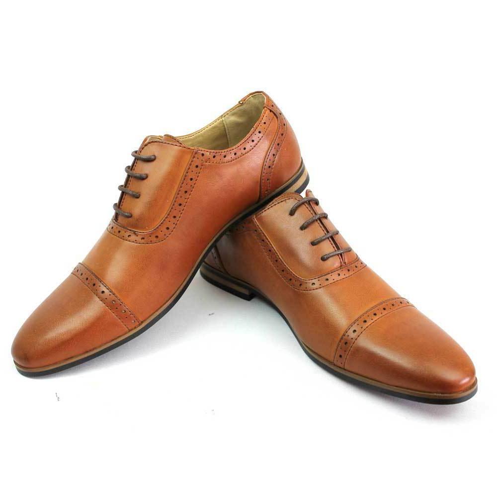 new men s brown cognac cap toe