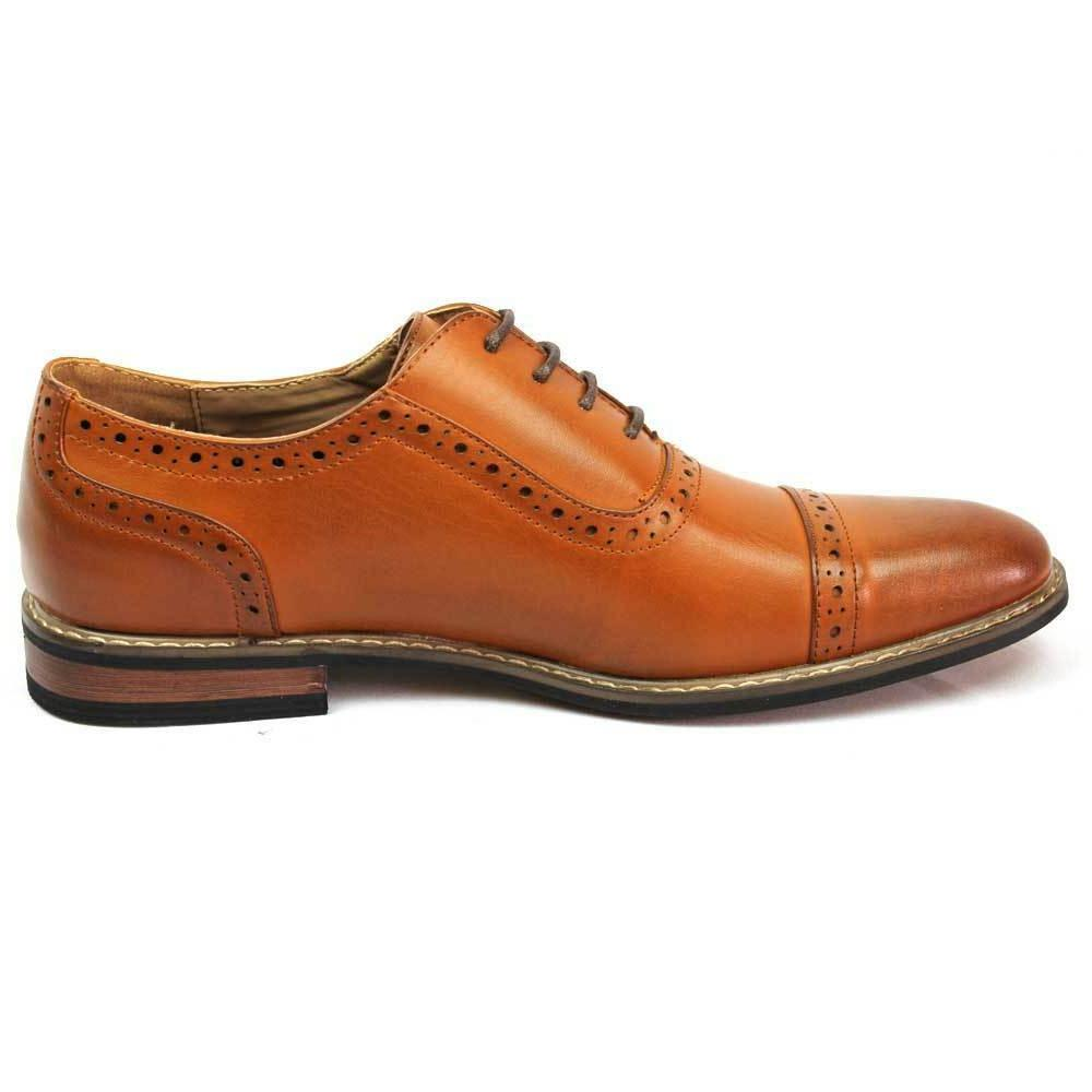 New Dress Shoes Cap Toe Up Leather Parrazo
