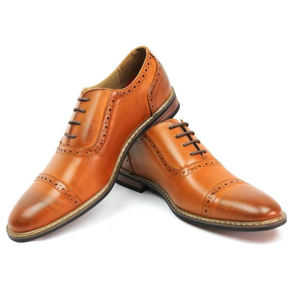 New Brown Shoes Cap Lace Up Oxfords Parrazo