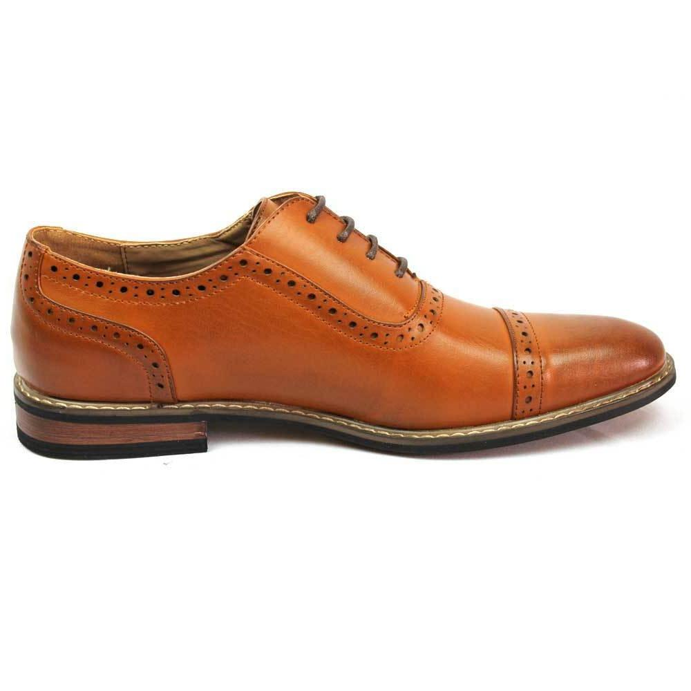 New Dress Shoes Cap Toe Up Leather Parrazo