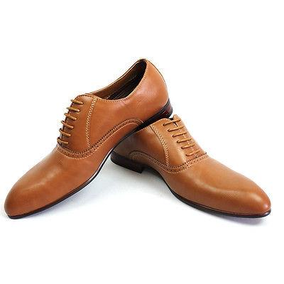 new men s brown pointed toe leather