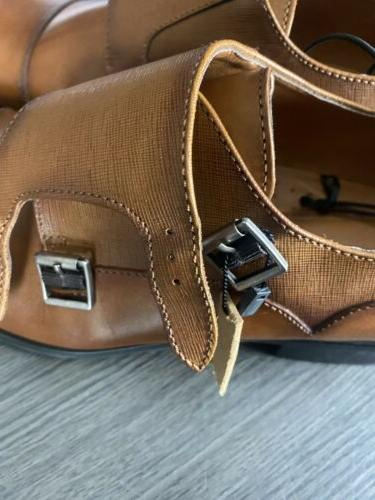 NEW EXPRESS Cap Toe Double Monk Strap DRESS Sz 10