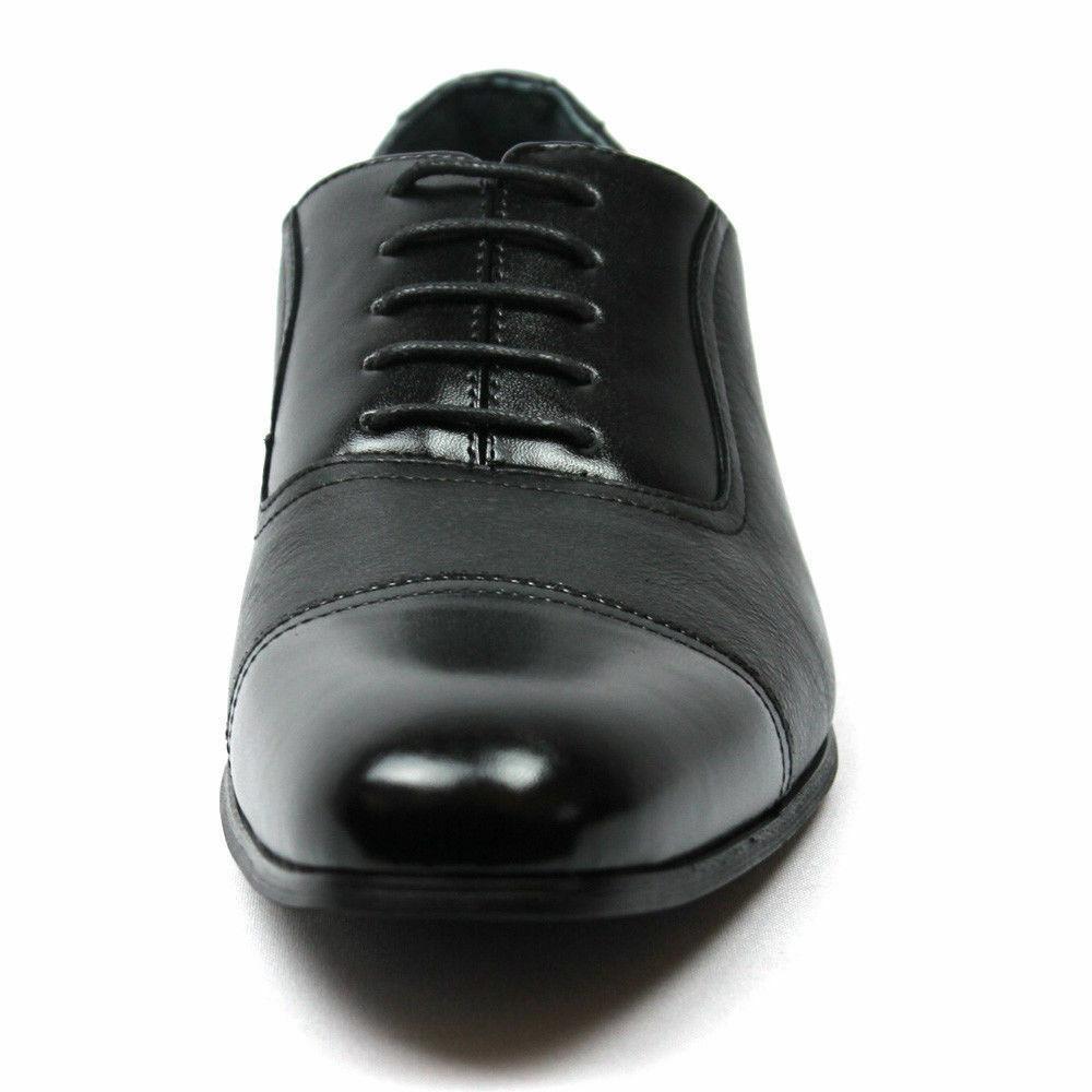 New Mens Black Dress Toe LeatherLining