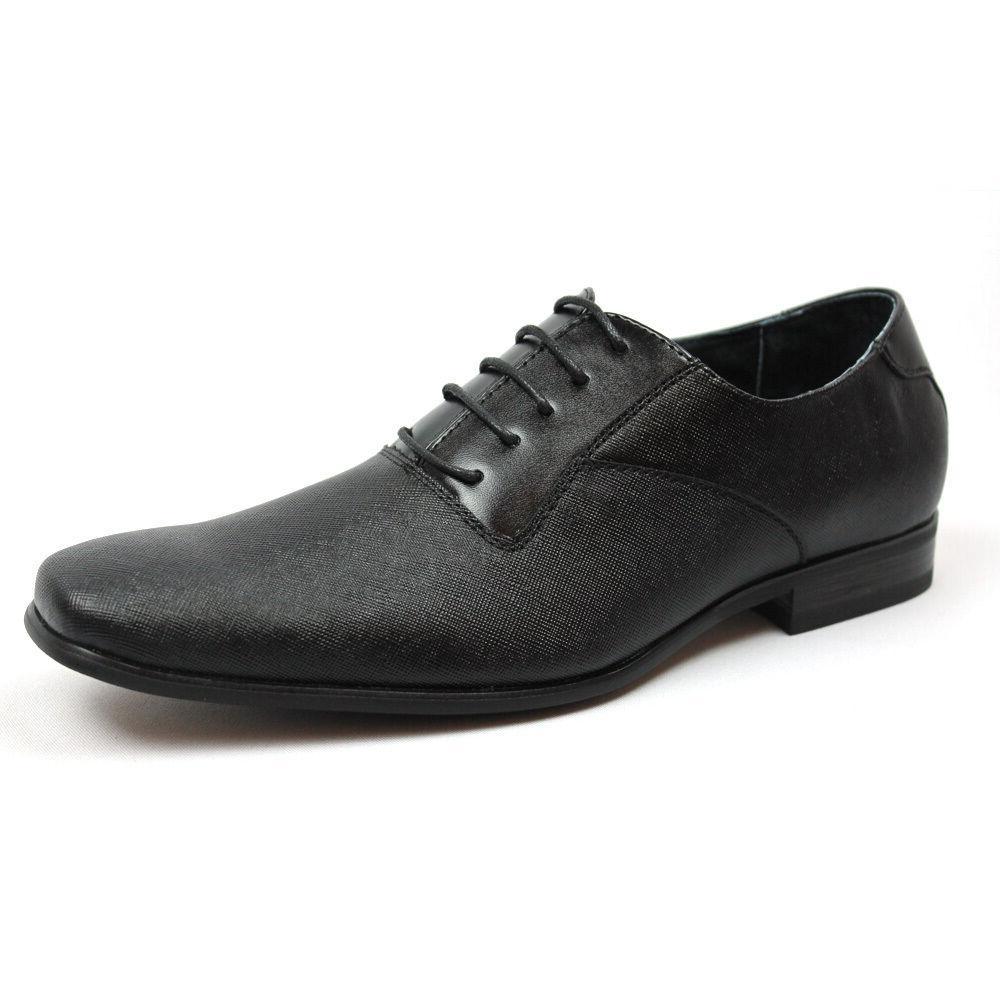 new mens black herringbone dress shoes leather