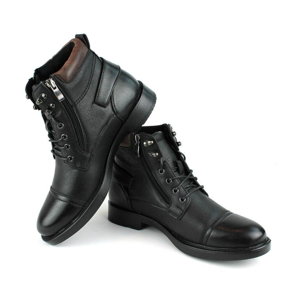 New Mens / Casual Ankle Up Black Zipper Fellini