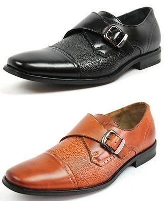 new mens dress shoes cap toe buckle