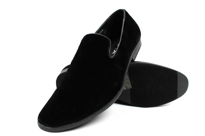 NEW Mens Dress Loafers Velvet Black/ Sparko 03