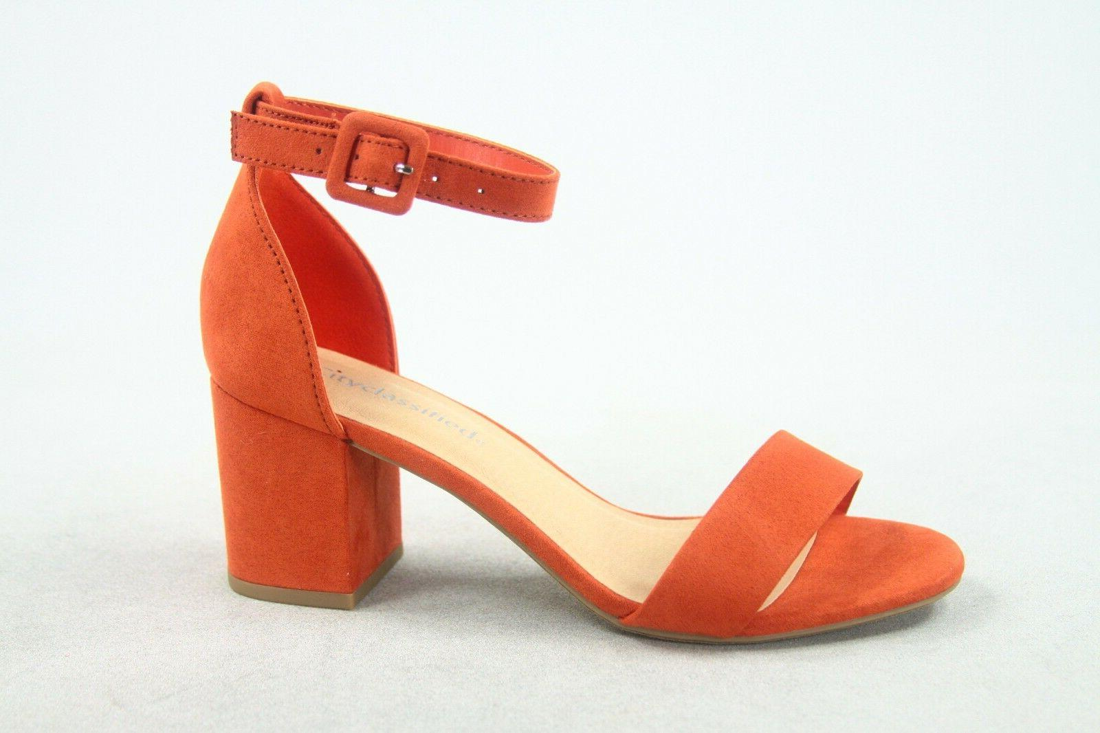 NEW Strap Chunky Heel Dress Size -11