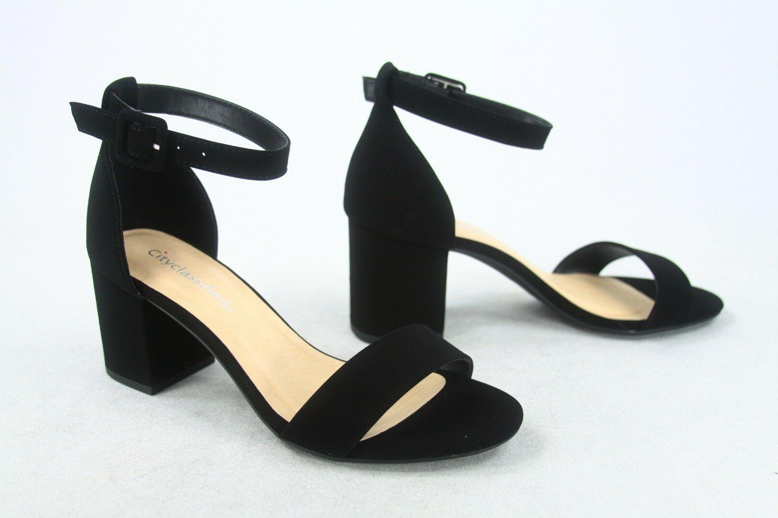 NEW Women's Color Strap Low Heel Dress Sandal Size 5 -