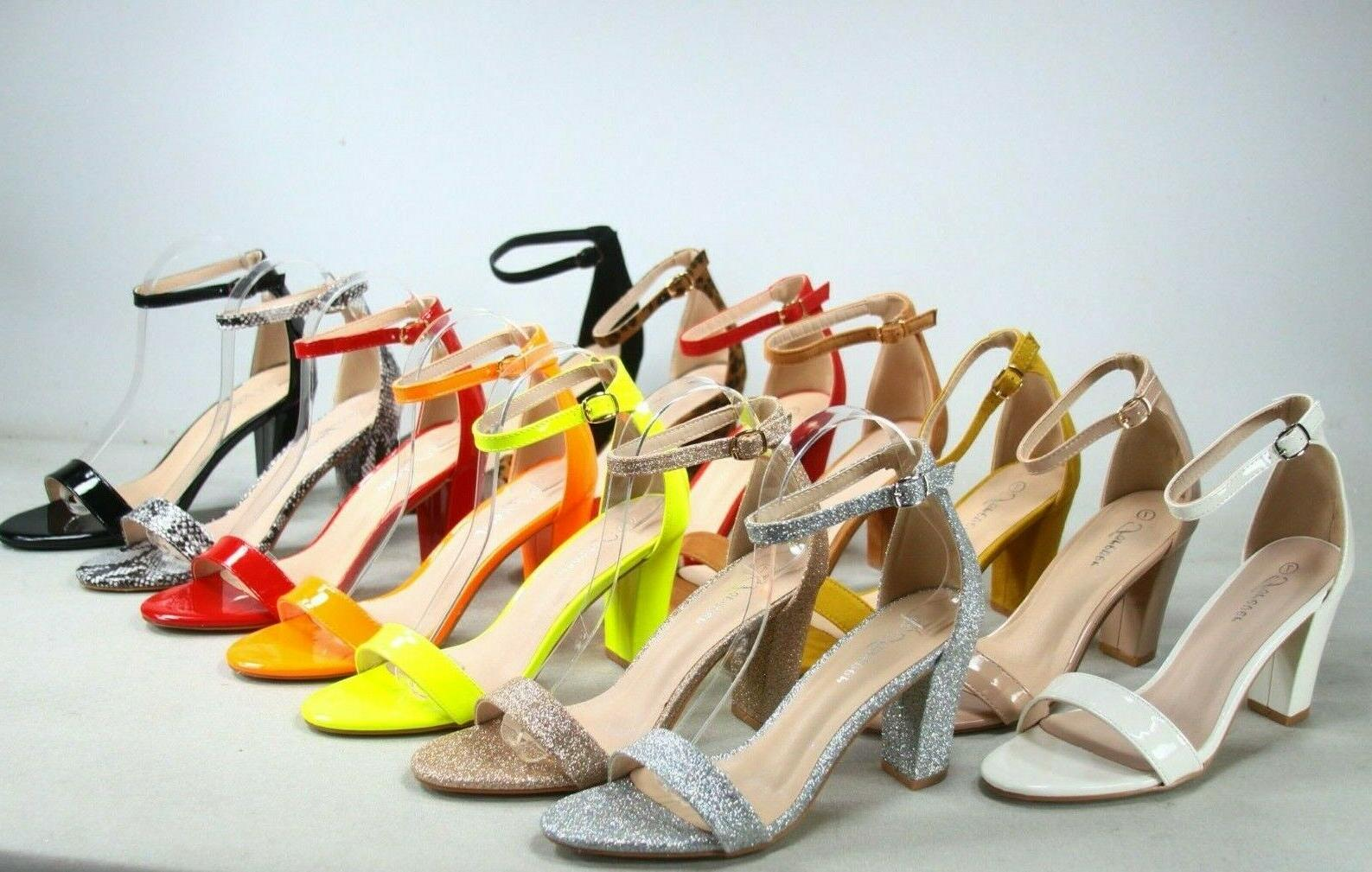 new women s color ankle strap evening