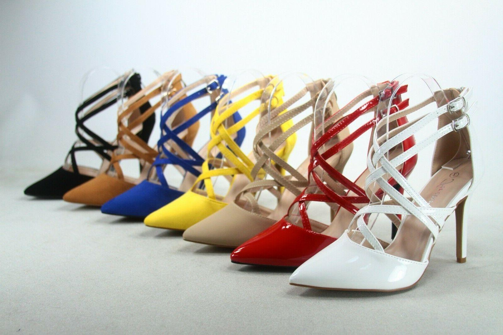new women s strappy pointed toe ankle
