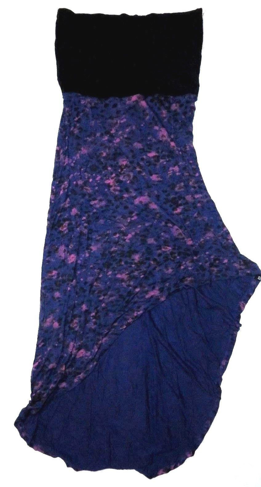 new womens switchback strapless knit asymetrical sundress