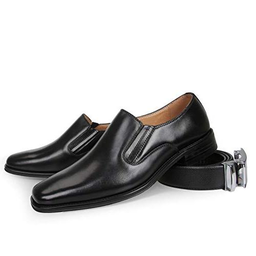 NXT YORK Men's Leather On Shoes Classic Comfortable Business