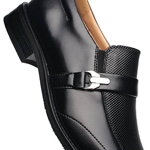 NXT YORK Slip On Loafer Moc Toe Zapatos Classic Formal Business Dress