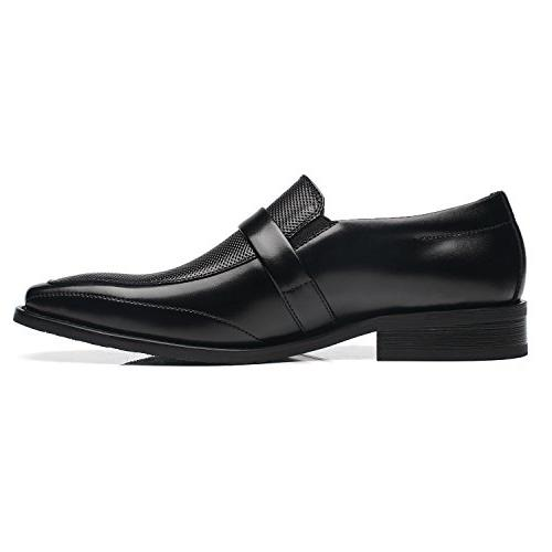 Slip On Buckle Loafer Moc Toe Oxford Shoes Zapatos de Classic Modern Formal Dress