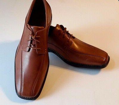 nwob men s leather dress shoes tan